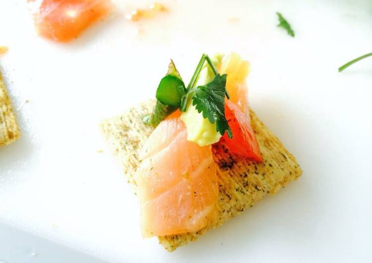Guideline to Construct Perfect Smoked salmon appetizer