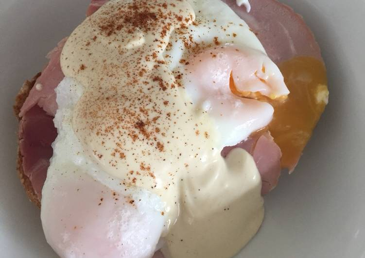 Step-by-Step Guide to Make Super Quick Homemade Eggs benedict with mock hollandaise