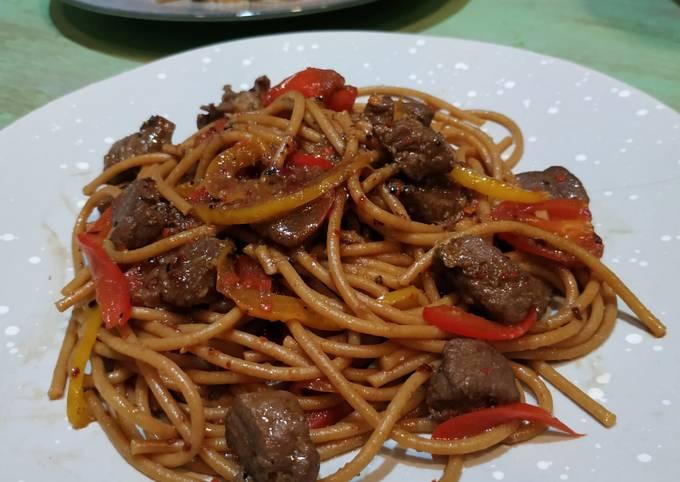 Resep Spaghetti Balsamic with Saikoro Paper