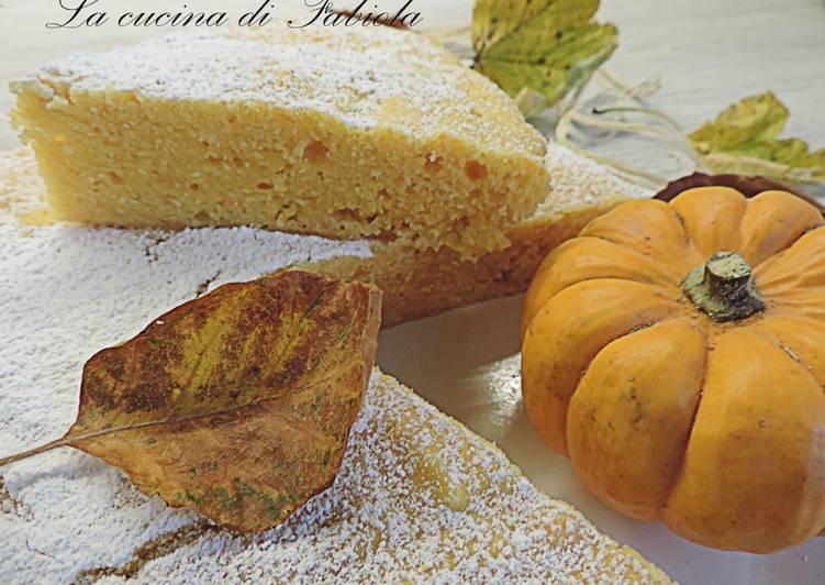 Torta zucca ricotta al microonde(solo 9 minuti di cottura)