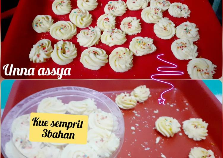 Kue semprit 3bahan no mixer no oven