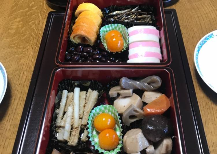 Osechi ryori, Japanese new year foods, sweet Kumquat