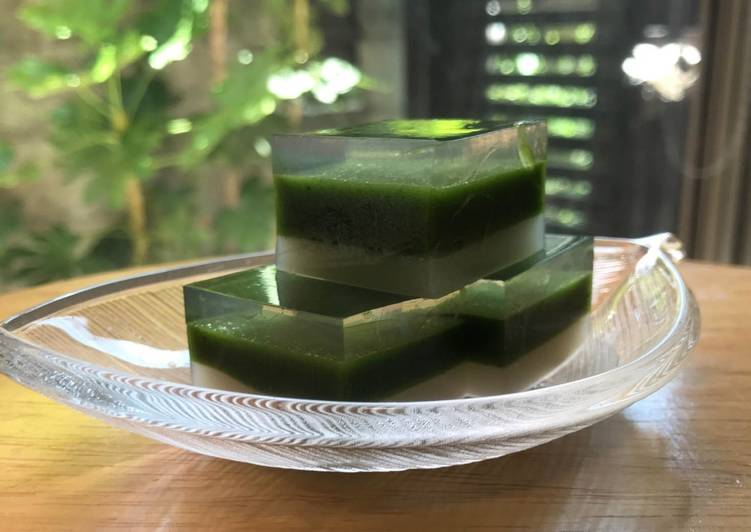 Recipe of Super Quick Homemade 3 colored Kanten Wagashi