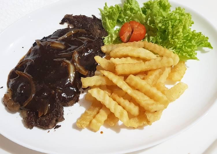 Steak Sapi Saus Lada Hitam