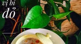 Hình ảnh món Chè trôi nước vị bí đỏ nước cốt dừa