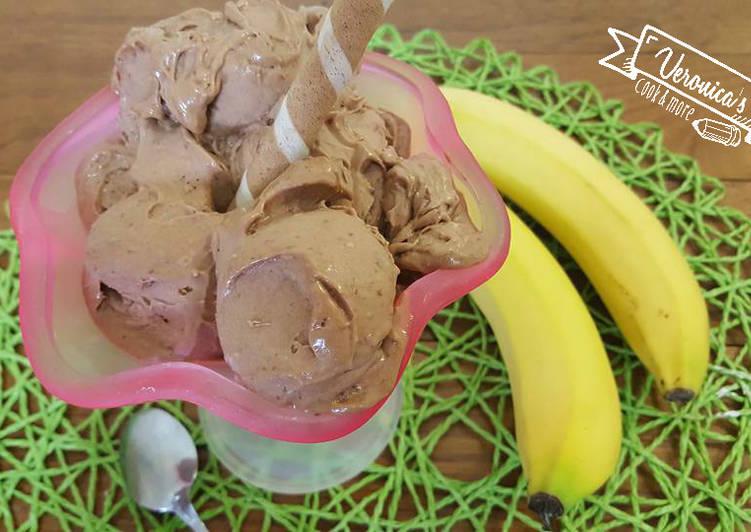 Gelato veloce banana e nutella