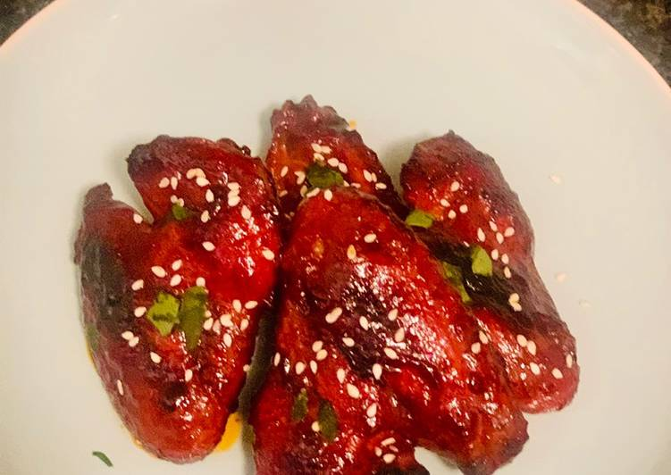 Easiest Way to Make Appetizing Honey Chilli Chicken Wings