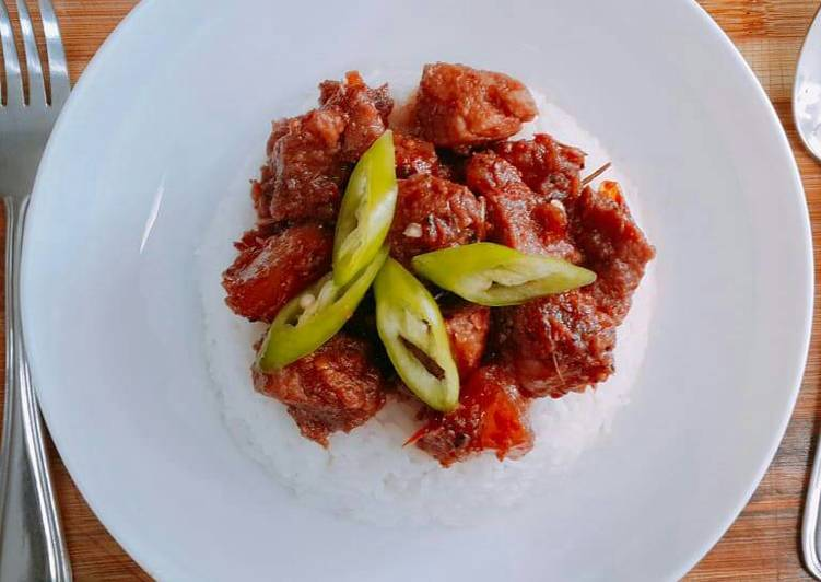 Recipe of Any-night-of-the-week Gourmet Pork Binagoongan with Truffle Oil