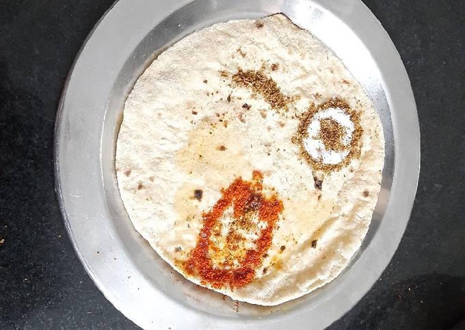 Leftover roti dish during snacks time