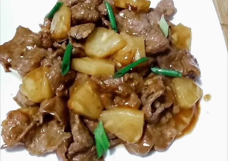 Stir fry beef&pineapple