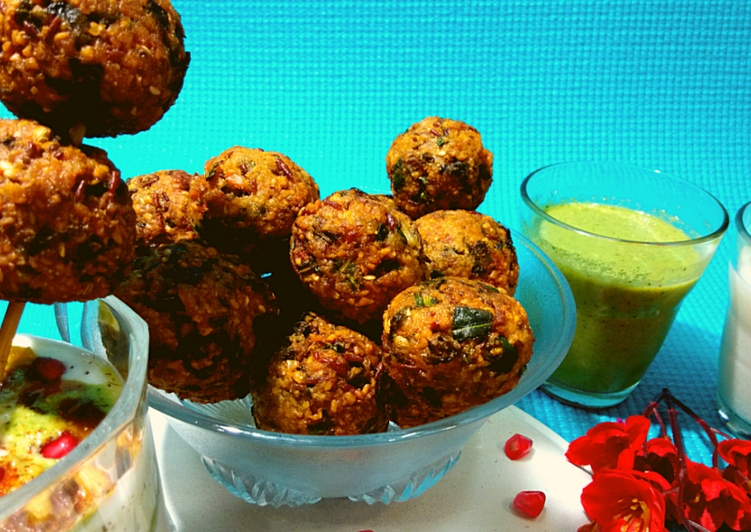 What is Dinner Ideas Winter Healthy Palak Moong dal pakoda chaat