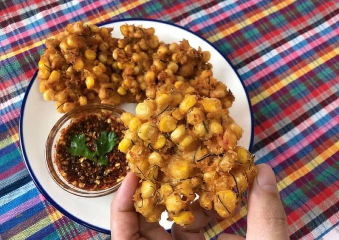 Easiest Way to Make Tasty Sweet Corn Fritters with HomeMade Red Curry Paste Thai Style • Tod Mun Kao Paok |ThaiChef Food