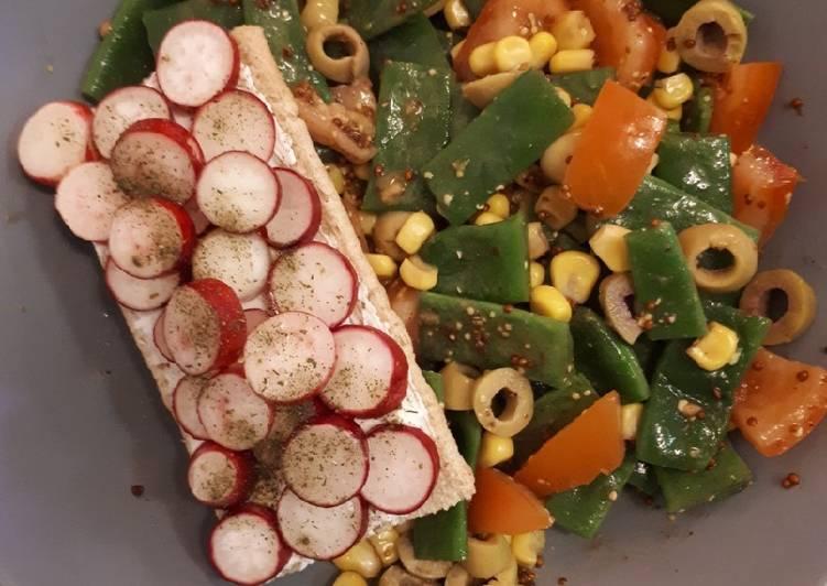 Salade d'haricots plats