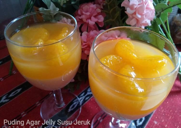 Puding Agar Jelly Susu Jeruk