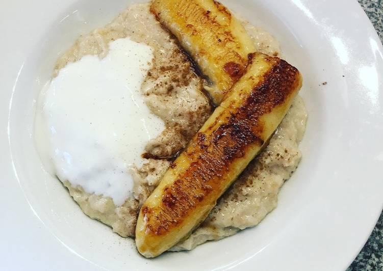 Bananen-Creme Porridge