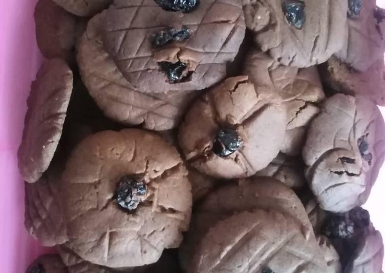 Kismis butter cookies cokelat