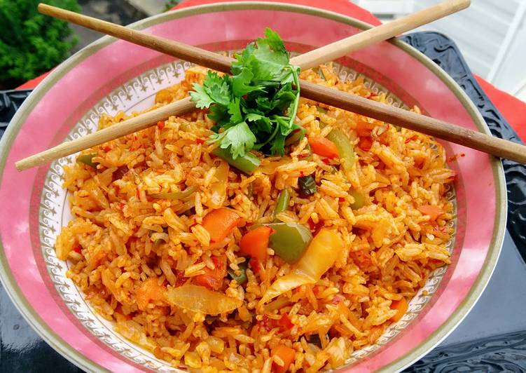 Recipe of Any-night-of-the-week Schezwan Fried Rice
