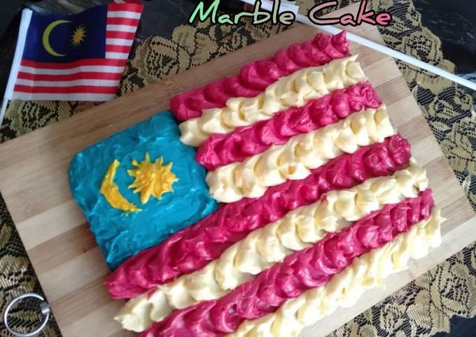 🇲🇾Jalur Gemilang Marble Cake (simple)