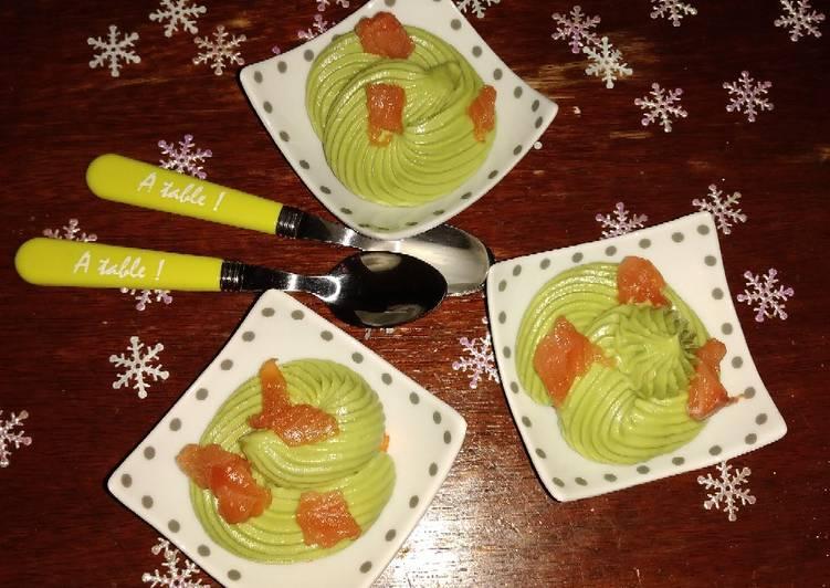 Verrine Saumon,Avocat et Surimi