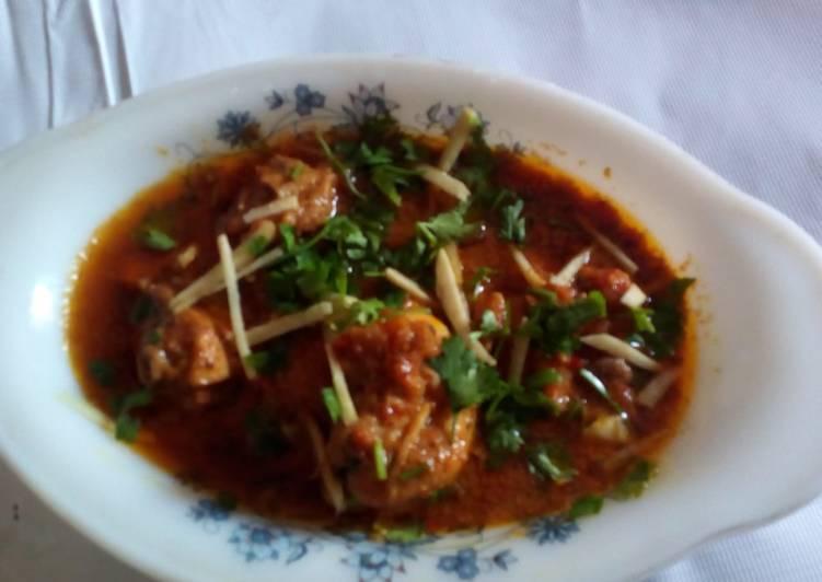 Yummy delicious and tasty karahi gosht