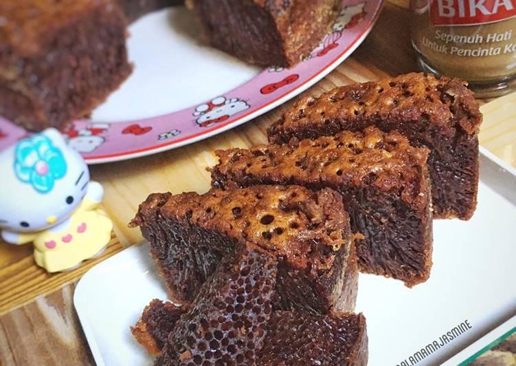 resep mengolah Bolu Karamel (Sarang Semut) - Sajian Dapur Bunda