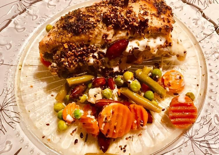Recettes Sandwich (sans pain!) de poulet, lardon, fromage avec légumes