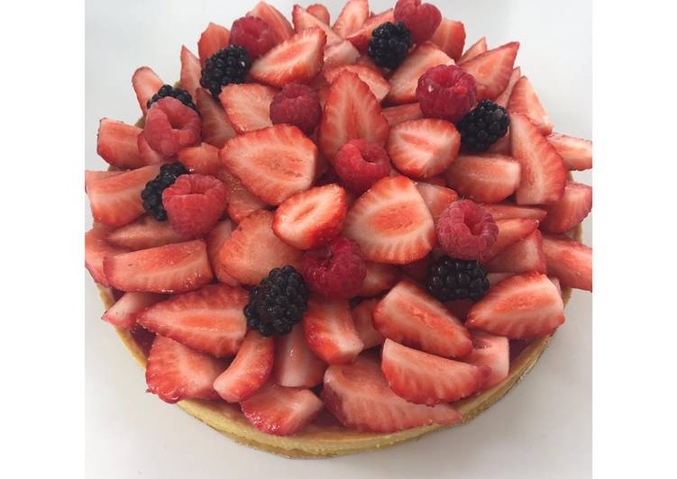 Tarte aux fraises Vanille