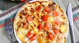 Hình ảnh món Pizza hải sản xốt tiêu đen
