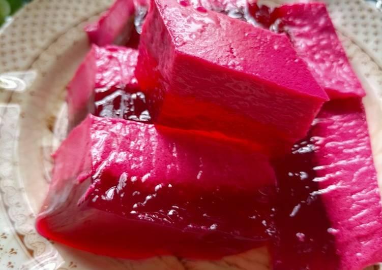 Agar - agar Merah Bersantan - resepipouler.com