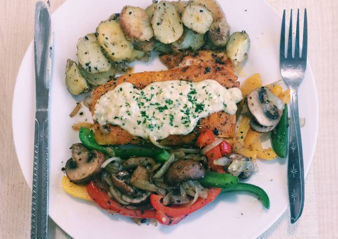 Pan-Seared Fish with Garlic Lime Butter Sauce