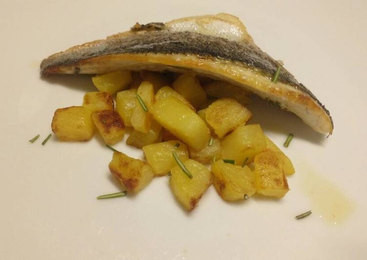 How to Improve Your Mood with Food Lemon and rosemary pan fried sea bass with sautèed potatoes