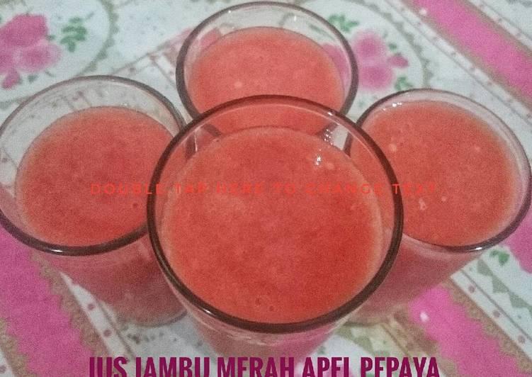 Jus Apel Pepaya Jambu Merah