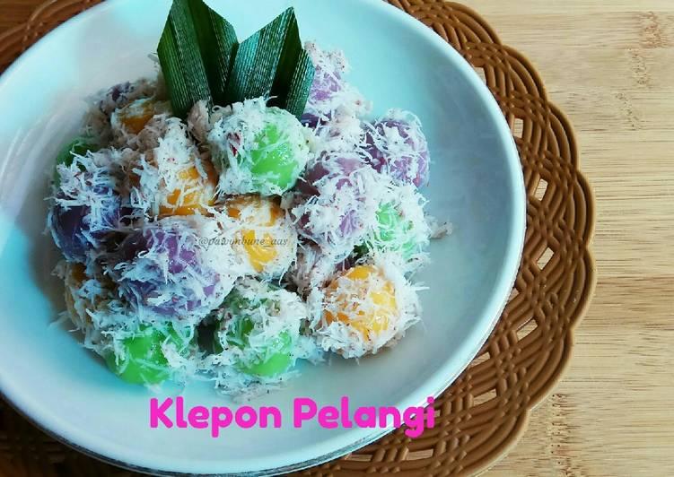 Klepon Pelangi - cookandrecipe.com