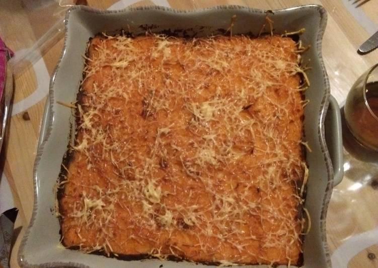 recette Hachis parmentier à la patate douce délicieux