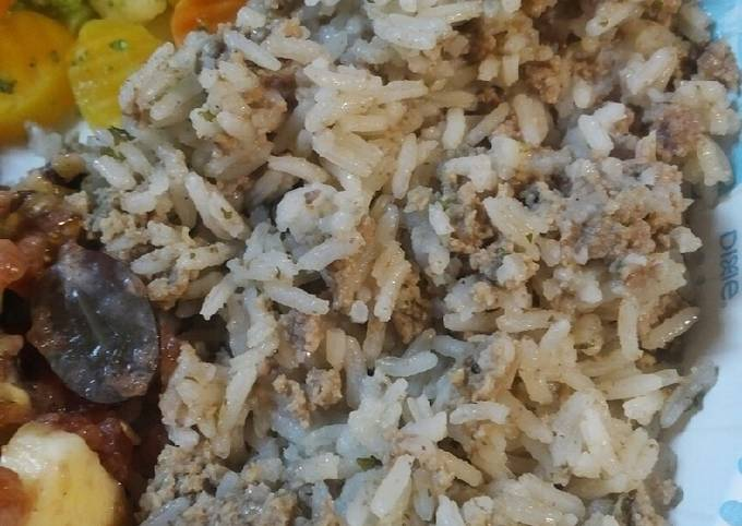Hamburger and Rice