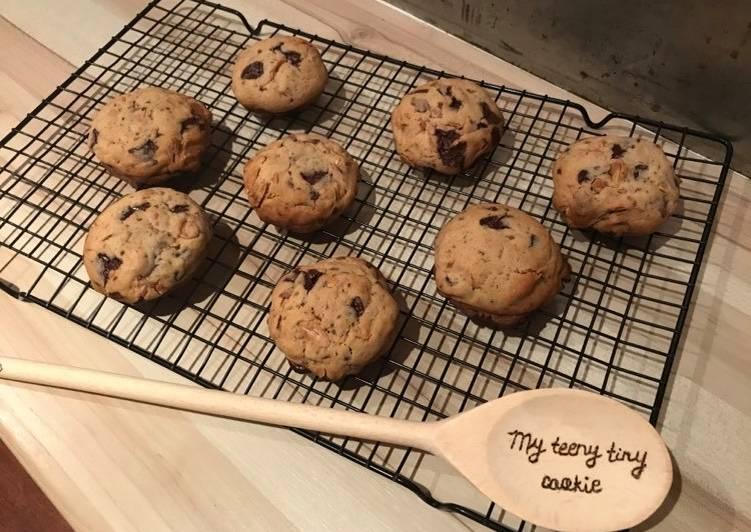 Cookies chocolat-amandes effilées
