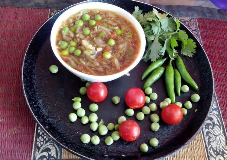 Clear veg soup