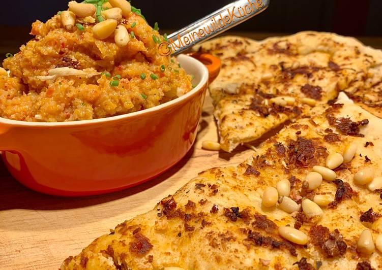 Gemüse-Aufstrich mit Pizzabrot