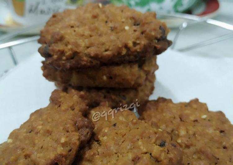 Chewy oatmeal cookies with coffee & cinnamon - cookandrecipe.com