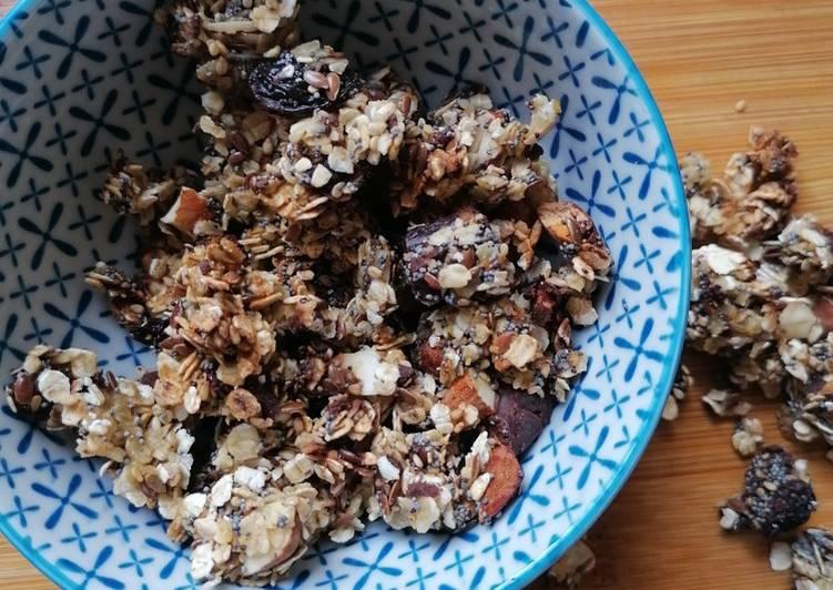 Granola amande chocolat