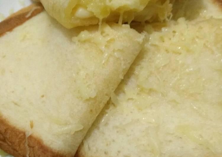 Roti tawar kukus mentega durian
