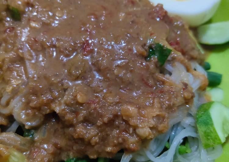 Kuah pecal / rujak sayur