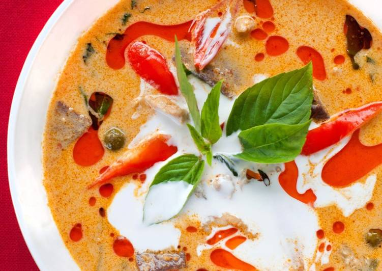 Vegetable Red Thai Curry Deciding on Wholesome Fast Food