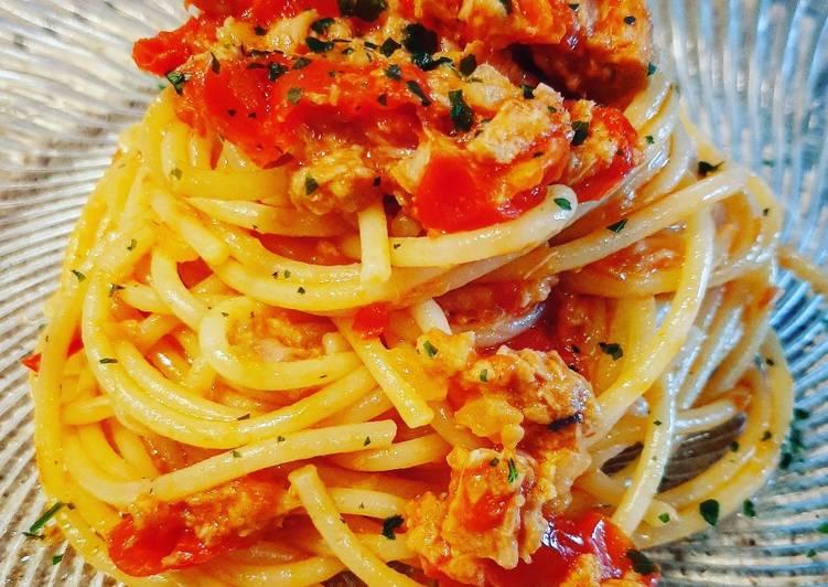 Spaghetti pomodorini e tonno