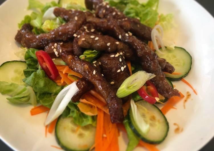 Simple Way to Prepare Most Popular Crispy Fried Beef Salad