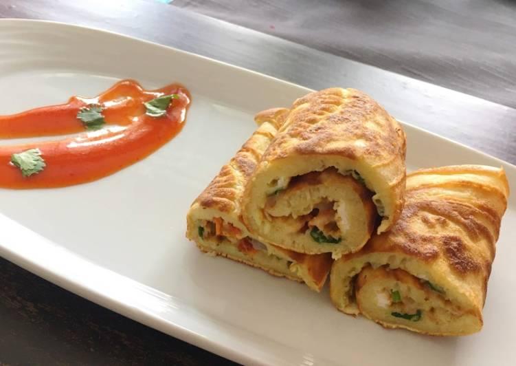 Recipe of Ultimate Appetizing Crepe egg roll