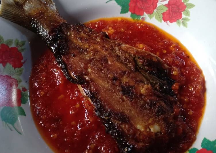 Bandeng Bakar Sambal Tomat   Teflon Version