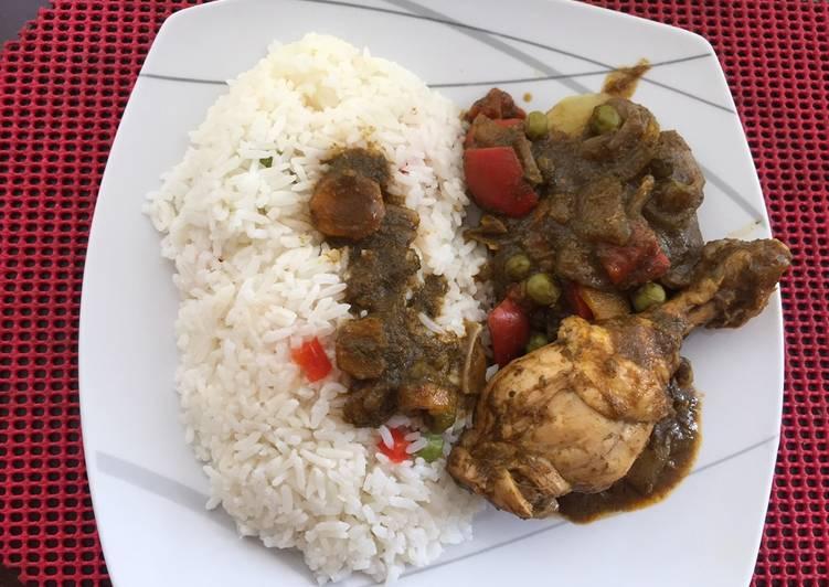 Seco de pollo (estilo Amankaya)