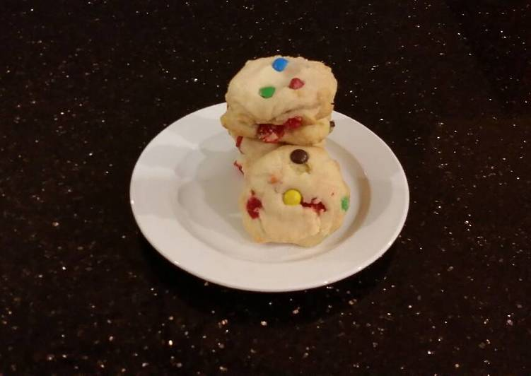 Cherry Chip Shortbread Cookies
