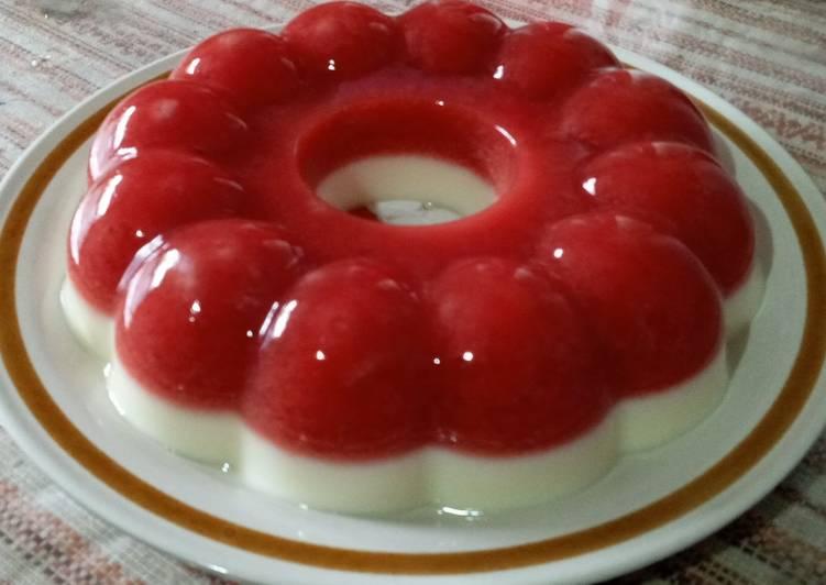 9. Pudding Merah Putih #tamarillo #susu